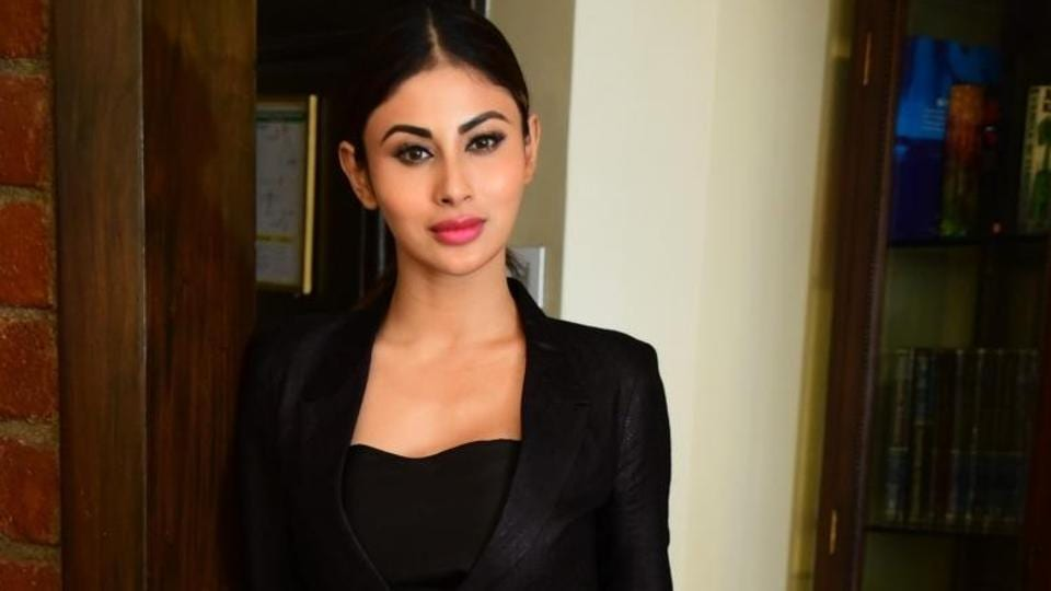 Mouni Roy at the promotion of Romeo Akbar Walter (RAW) in Mumbai, on March 18.