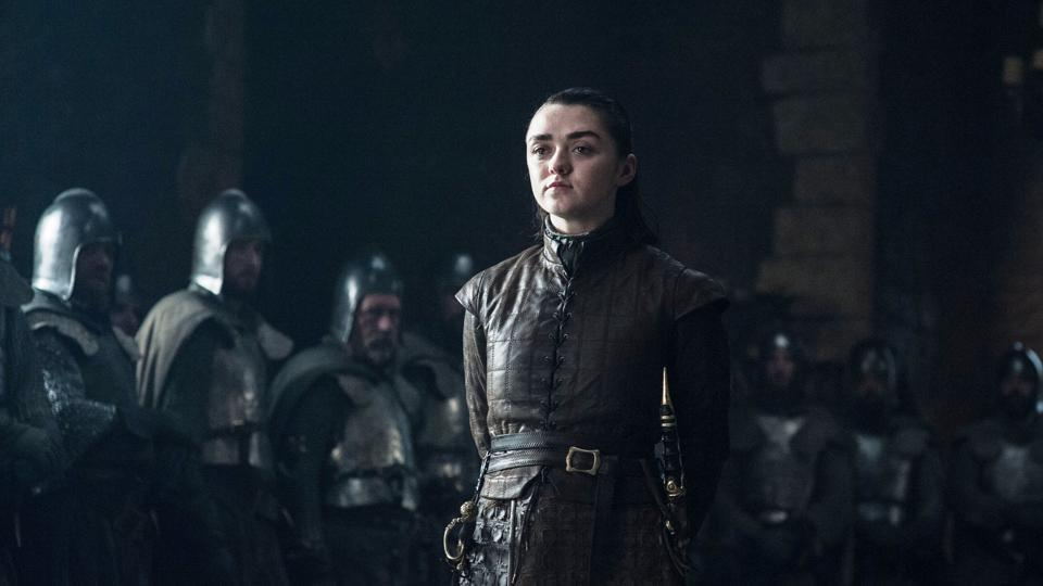 Maisie Williams has played Arya Stark for nine years.