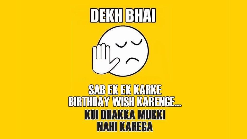 Apparently 'birthday stress' is a medically recognised phenomenon and happens across the world — Matlab mujhe bimaari ho, toh koi desi type toh ho nahi sakti.
