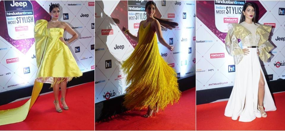 Yellows, white and gold on these divas at the red carpet