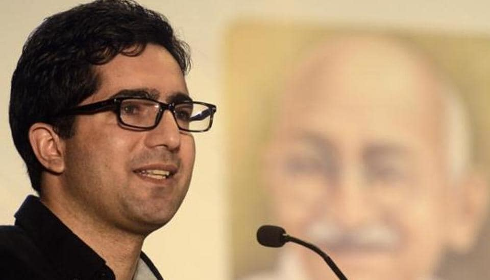 Former IAS officer Shah Faesal on Saturday said his recently formed party, Jammu and Kashmir Peoples Movement (JKPM), will not contest the upcoming Lok Sabha polls. (Photo by Ravindra Joshi/HT PHOTO)