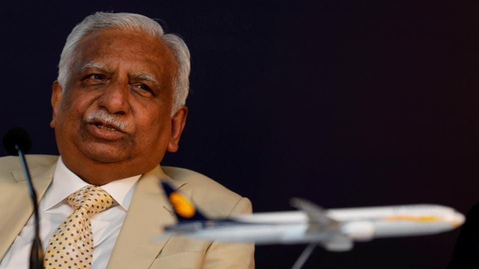 Jet Airways founder and chairman Naresh Goyal and his wife Anita Goyal will resign from the board of the crisis-hit airline, according to a regulatory filing. The decision was taken at the airline's board meeting held today. (Danish Siddiqui / REUTERS File)