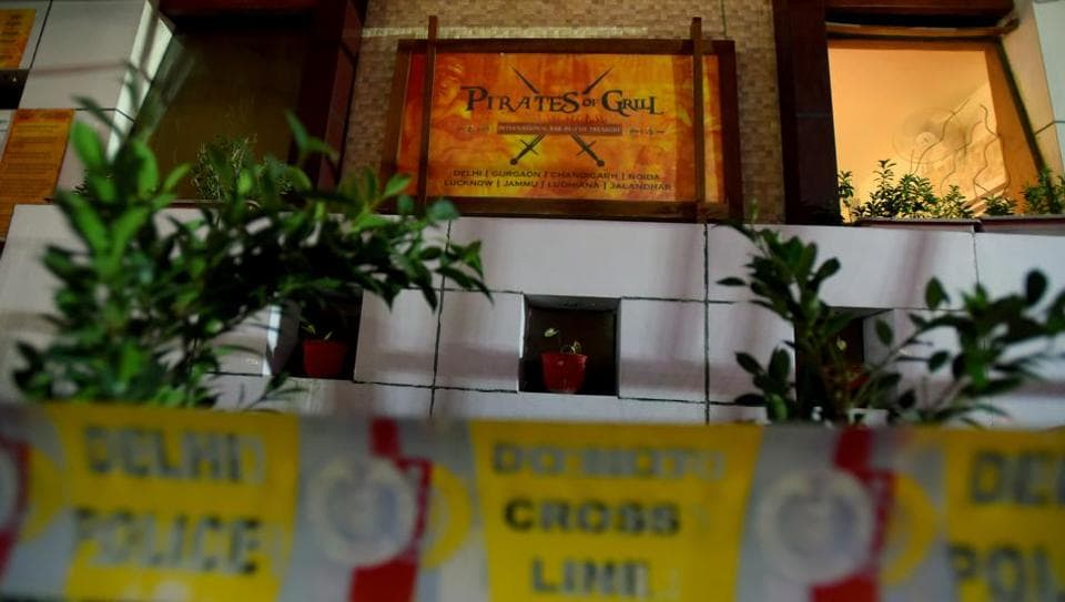 A day after two members of the housekeeping staff of a west Delhi restaurant died while cleaning the joint's kitchen waste treatment plant, the police on Sunday said that they have arrested two senior employees of the restaurant
