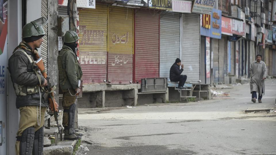 Strike against JKLF ban hits normal life in Kashmir