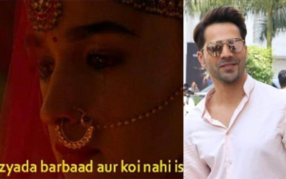 Varun Dhawan asks fans to say no to drugs as Rajasthan Police uses Kalank meme for anti-drugs campaign.