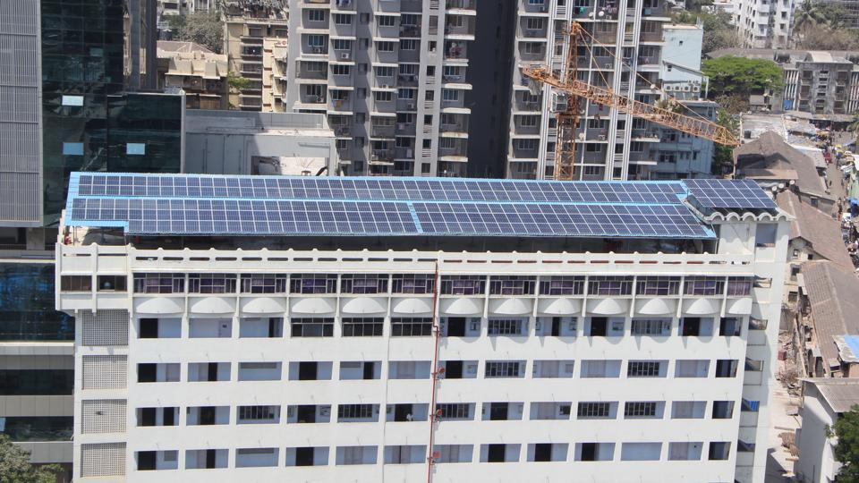 The Maharashtra College of Arts, Science and Commerce in Nagpada has installed 250 solar panels on its terrace.