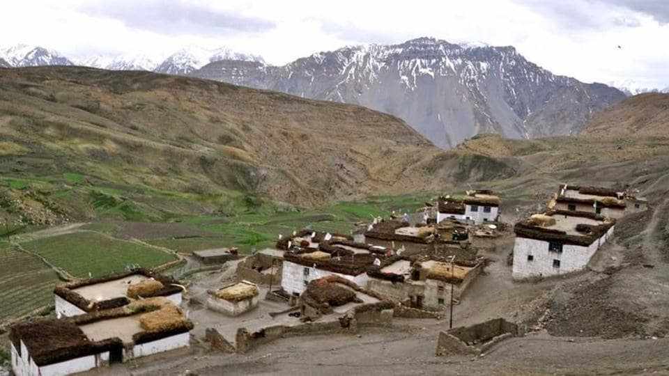 Hikkim in Himachal Pradesh (in photo), positioned at an altitude of about 14,400 ft, was earlier world's highest booth. But it has now been replaced by Tashigang, at an altitude of 15,256 feet.