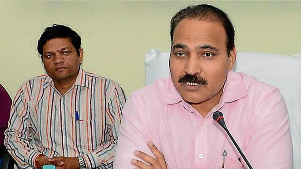 Rajasthan's chief electoral officer Anand Kumar addresses a meeting in Jaipur on Tuesday.