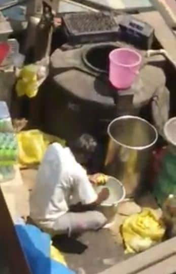 A video grab of a railway stall vendor using the water in which he washed his hands to prepare lemonade goes viral.