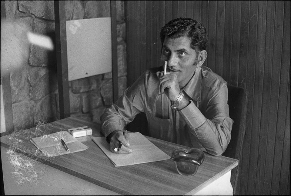 Lyricist Anand Bakshi photographed on 31 October, 1971.