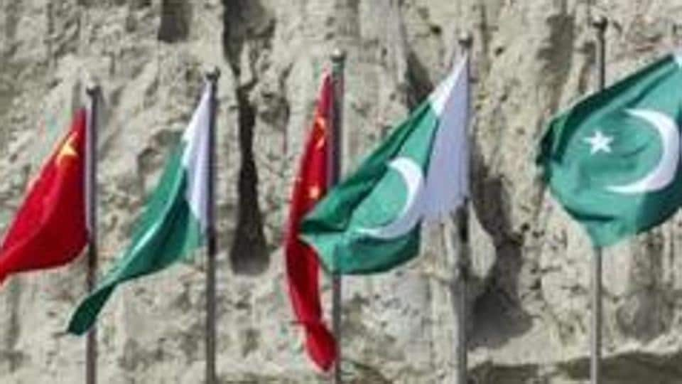 Chinese national flags fly next to Pakistani national flags at the Gwadar port in Gwadar, in Balochistan, Pakistan. Image for representation.