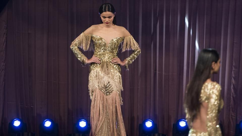 Models walk the ramp during HT India's Most Stylish Awards 2018 at Yash Raj Studios. (Satish Bate/HT Photo)