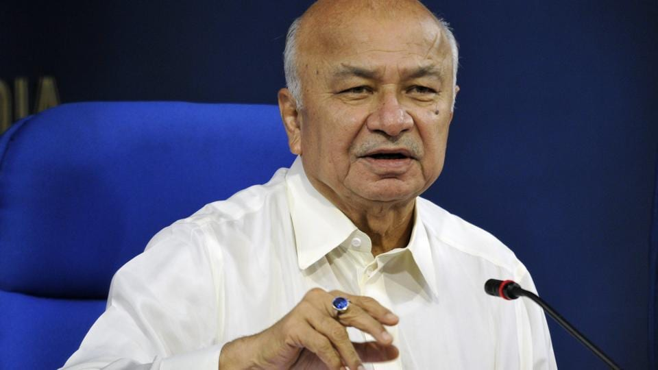 Sushilkumar Shinde, former union home minister and Congress nominee from Solapur.