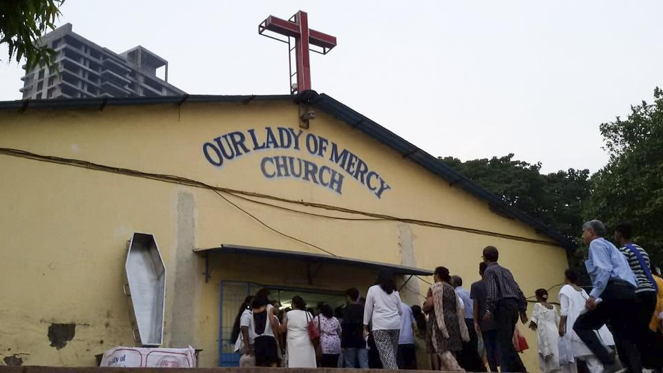 Parishioners said they had to bury the 95-year-old in the church compound owing to lack of burial space.