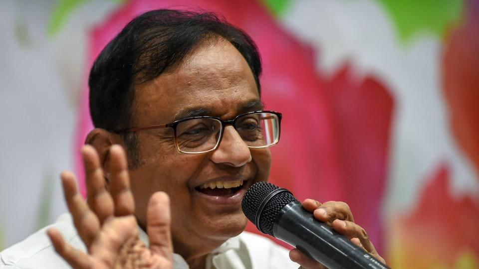 "Senior Congress leader and former Finance Minister P Chidambaram  pitched a strong defence of the minimum income guarantee poll promise made by Rahul Gandhi. Chidambaram said a scheme of this scale, expected to cost around Rs 3.6 lakh core, ""could not have been implemented 20 years ago and certainly not 40 years ago"" owing to the size of the economy. (R Senthil Kumar / PTI)"