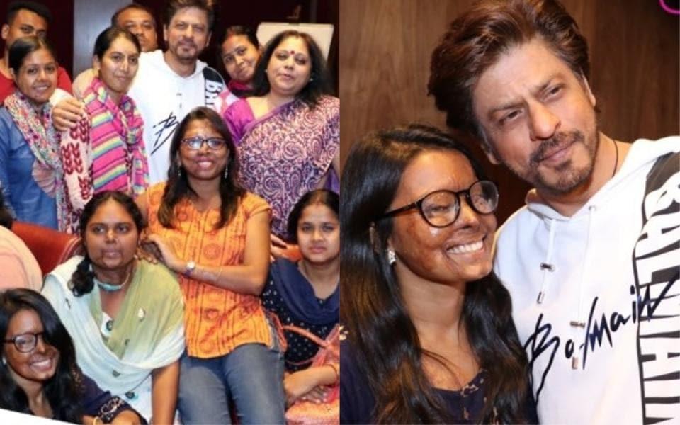 Shah Rukh Khan meets acid-attack survivors.
