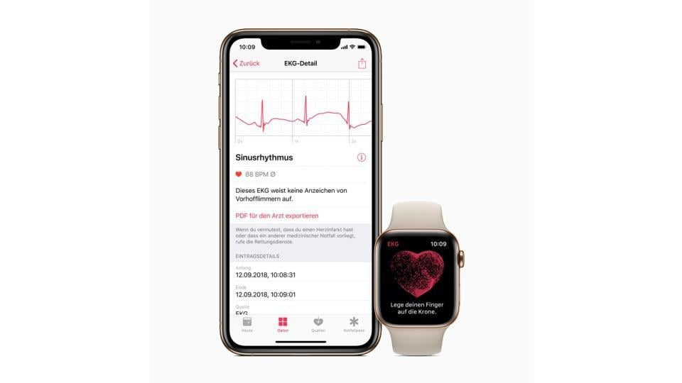 The ECG app enables customers to take an electrocardiogram right from their wrist.