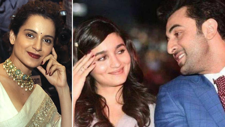 Kangana Ranaut has again attacked Ranbir Kapoor and Alia Bhatt.