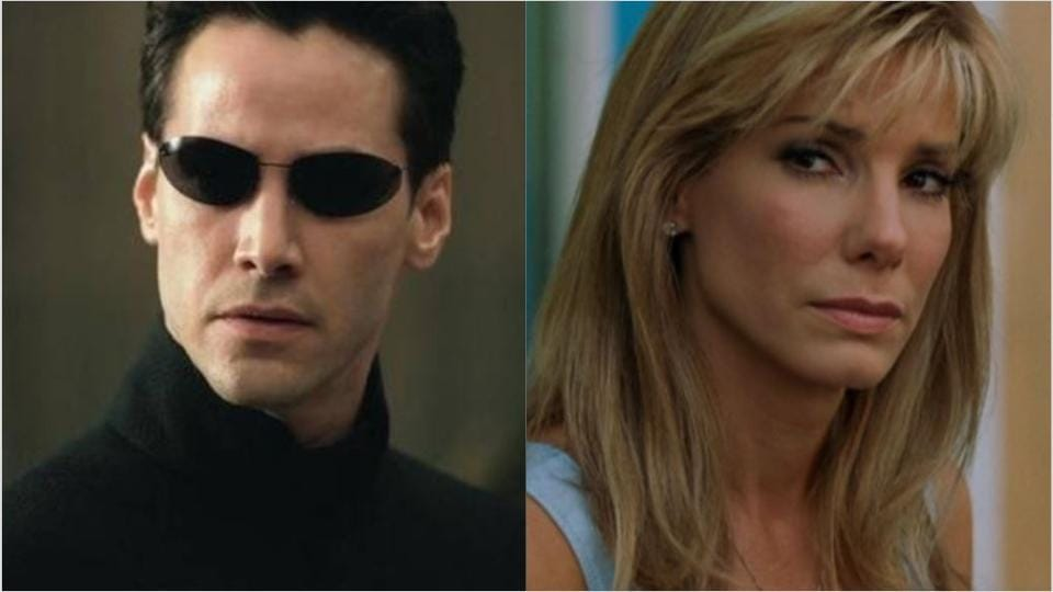 Sandra Bullock was the first choice to play Neo in The Matrix.