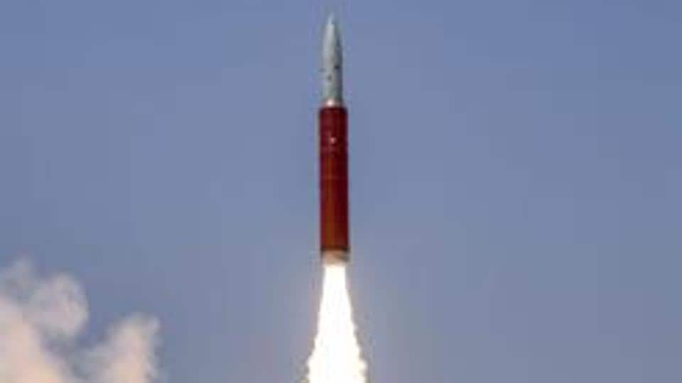 Ballistic Missile Defence (BMD) Interceptor missile being launched by Defence Research and Development Organisation (DRDO) in an Anti-Satellite (A-SAT) missile test 'Mission Shakti' engaging an Indian orbiting target satellite in Low Earth Orbit (LEO) in a 'Hit to Kill' mode from Abdul Kalam Island, Odisha, March 27, 2019