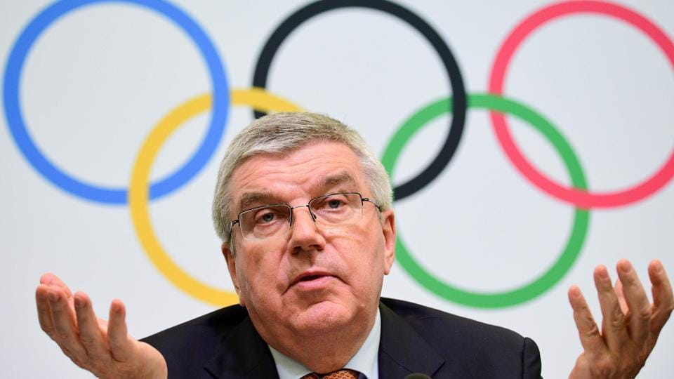 International Olympic Committee president Thomas Bach attends a press conference in Tokyo on December 1, 2018.