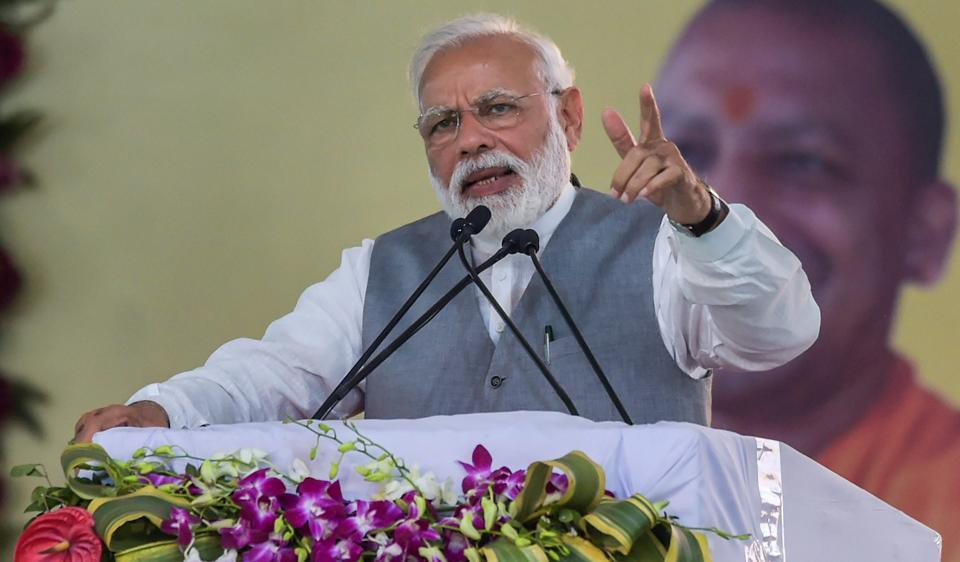 PMModi has started his poll campaign. The ball is now in the opposition's court to challenge his claims on development, national security, and of providing decisive and honest government.