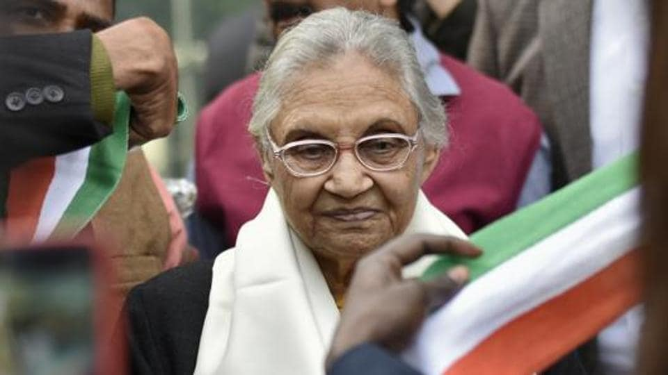 """The Delhi Congress has said that it will highlight the """"glory days of the city"""" under the Sheila Dikshit government to reach out to the voters. (Photo by Burhaan Kinu/ Hindustan Times)"""