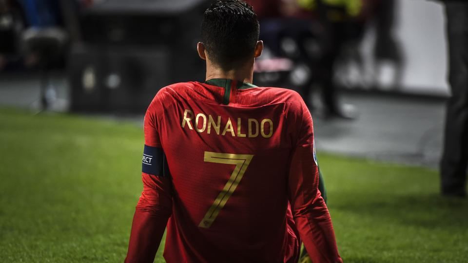 Portugal forward Cristiano Ronaldo suffered an injury during the Euro 2020 qualifying against Serbia.