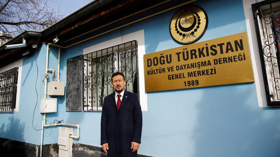 Seyit Tumturk in front of the headquarters of East Turkestan Culture and Solidarity Association in Kayseri, Turkey. While Uighurs had no problems in Turkey until three or four years ago, Ankara's security concerns and stronger ties with Beijing reversed that trend, said Tumturk, president of a rights organisation called the National Assembly of East Turkestan, the name that Uighur exiles use for Xinjiang. (Murad Sezer / REUTERS)