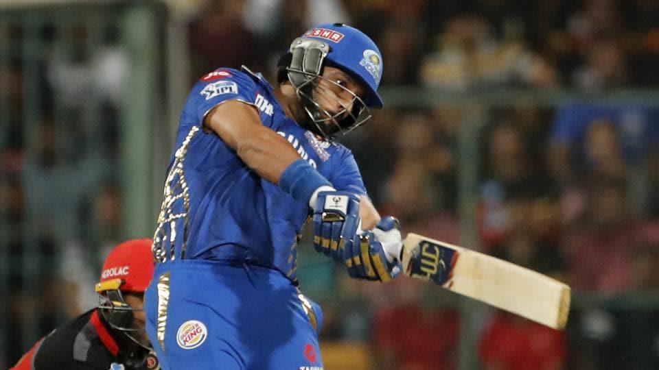 Mumbai Indians Yuvraj Singh plays a shot during the VIVO IPL T20 cricket match between Royal Challengers Bangalore and Mumbai Indians in Bangalore, India, Thursday, March 28, 2019