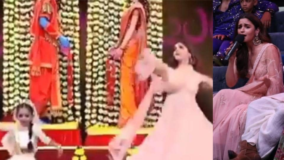 Alia Bhatt performed with a Super Dancer participant on her song Ghar More Pardesiya.