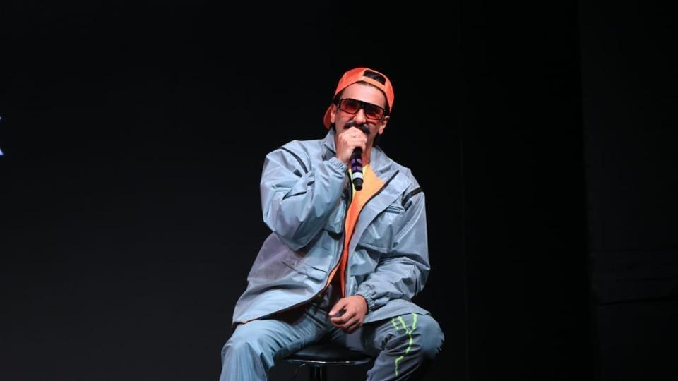 Ranveer Singh speaks at the song launch of his music label IncInk.