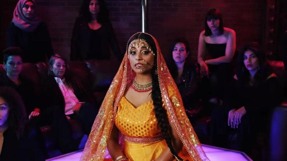 Superwoman aka Lily Singh in a screen grab of the video.