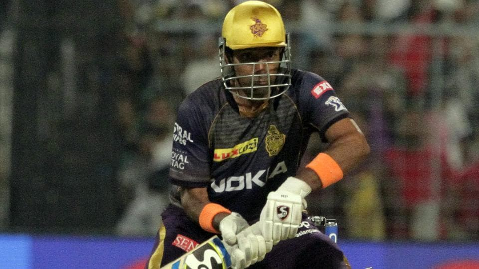 Kolkata Knight Riders' Robin Uthappa bats against Kings XIPunjab.