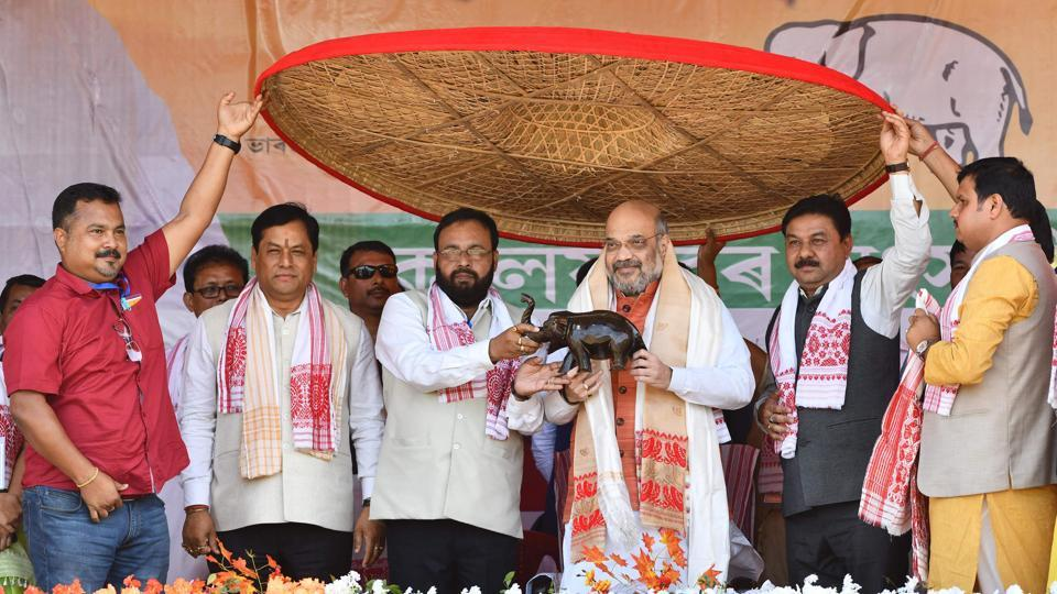 "The BJP will conduct a citizenship screening exercise in Bengal to identify and weed out infiltrators, party president Amit Shah said at a public rally in Alipurduars, West Bengal on Friday. ""We want to assure each and every Hindu refugee that none has to leave the country. All of you will have a place to live in India with respect. The Citizenship Amendment Bill is our commitment,"" said Shah. (Biju Boro / AFP)"