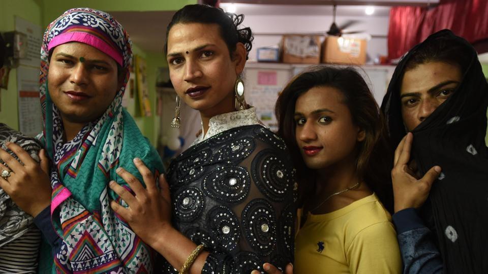 Transgender persons at Basera Samajik Sansthan, at Sector 9, in Noida,  on Thursday, March 28, 2019.