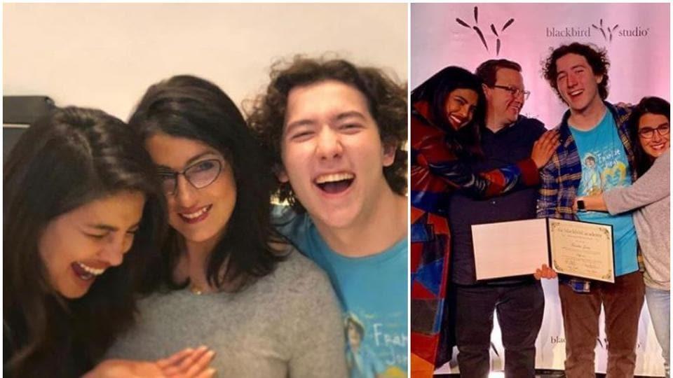 Priyanka Chopra,Nick Jonas,Franklin Jonas