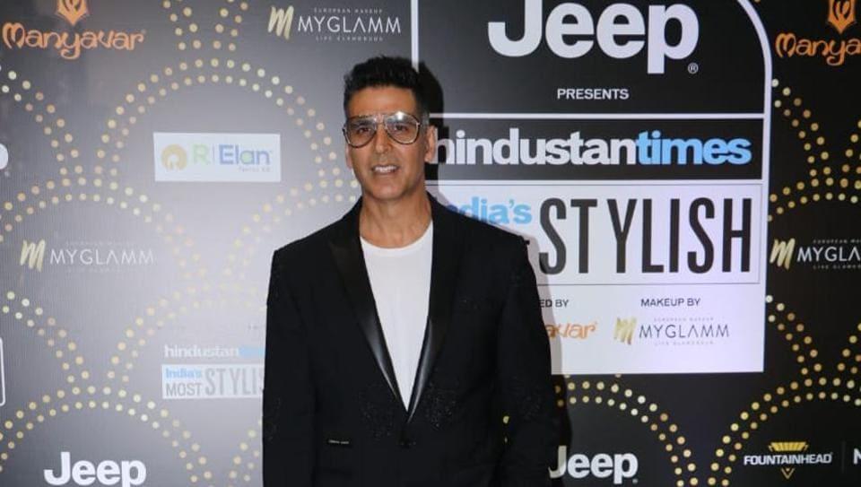 Akshay Kumar at the HT India's Most Stylish in Mumbai on Friday.