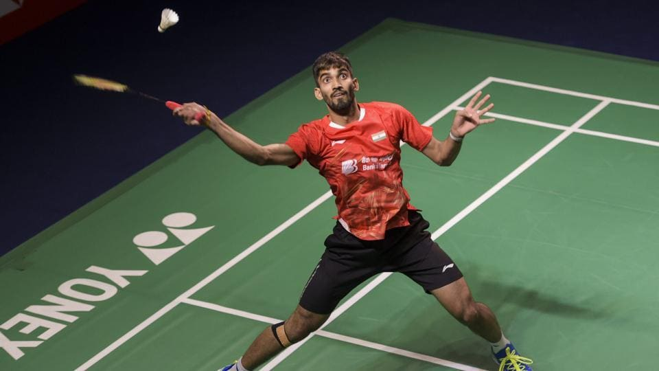 Kidambi Srikanth in action.
