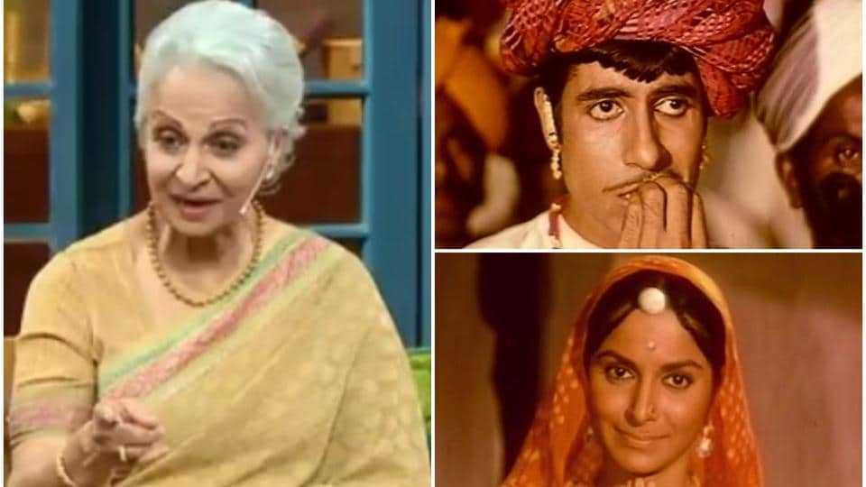 Waheeda Rehman recalled the moment when she slapped AmitabhBachchan on the sets of Reshma Aur Shera.