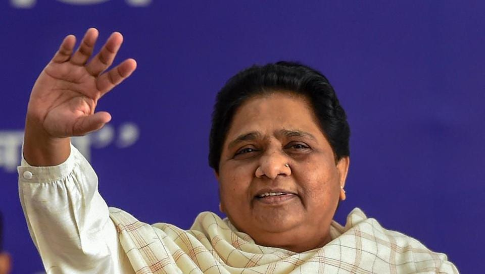 Mayawati alleged the BJP was trying to divide Dalit votes.