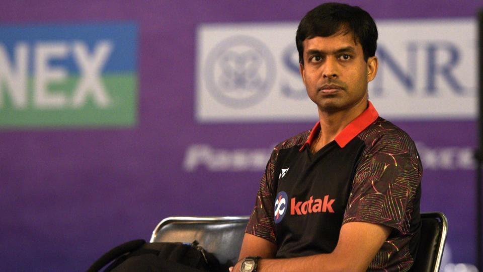 Indian Badminton coach Pullela Gopichand during India Open 2019, at KD Jadhav Indoor Stadium, in New Delhi