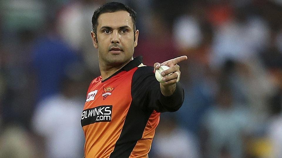 Sunrisers Hyderabad's bowler Mohammed Nabi prepares to bowl. (AP)