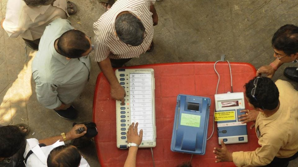 Each EVM can accommodate only 16 names and the control unit can record the voting of only four such EVMs linked together which means, each control unit can register a maximum of 64 candidates (Representative image).