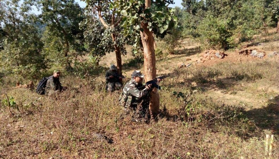 Reinforcement was rushed to the spot and the injured personnel were evacuated from the forest.
