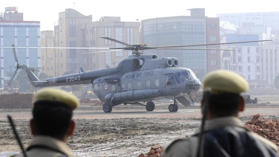An IAF Mi-17 helicopter crashed at Budgam after taking off from Srinagar airport at 10:10 am, soon after Pakistani Air Force jets had attempted to violate the Indian airspace at around 9.30 am on February 27.