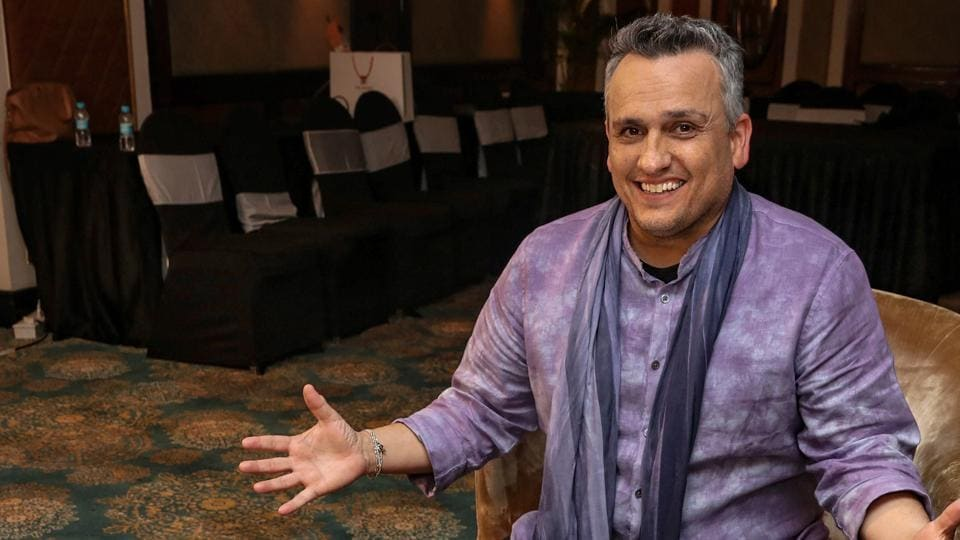 Joe Russo, director of the movie Avengers: Endgame, enjoys an Indian thali served in the shape of Avengers' 'A', in Mumbai.