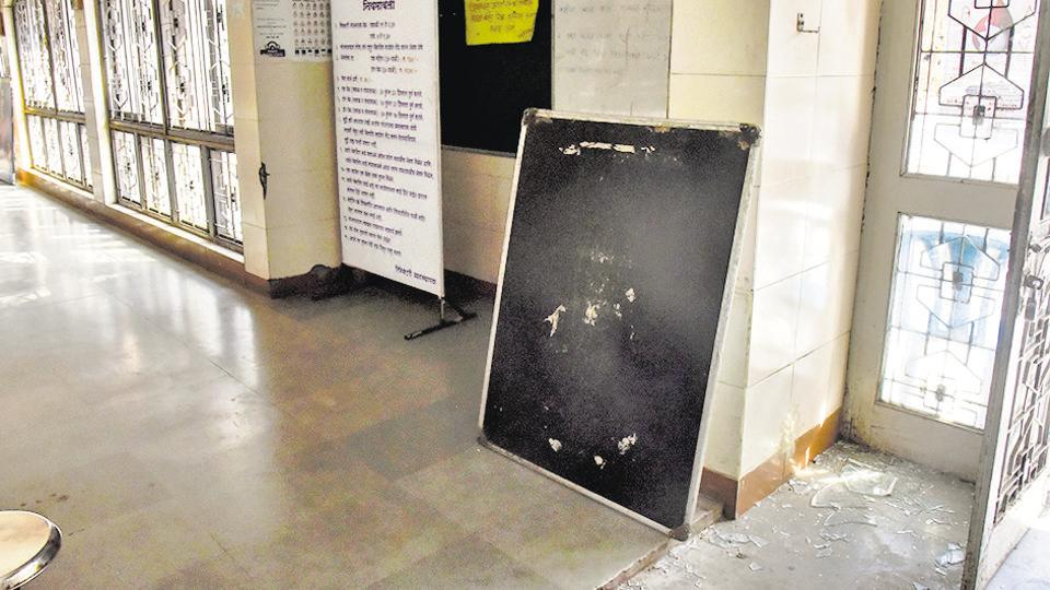 The refectory at SPPU was vandalised by a group of students on Monday.