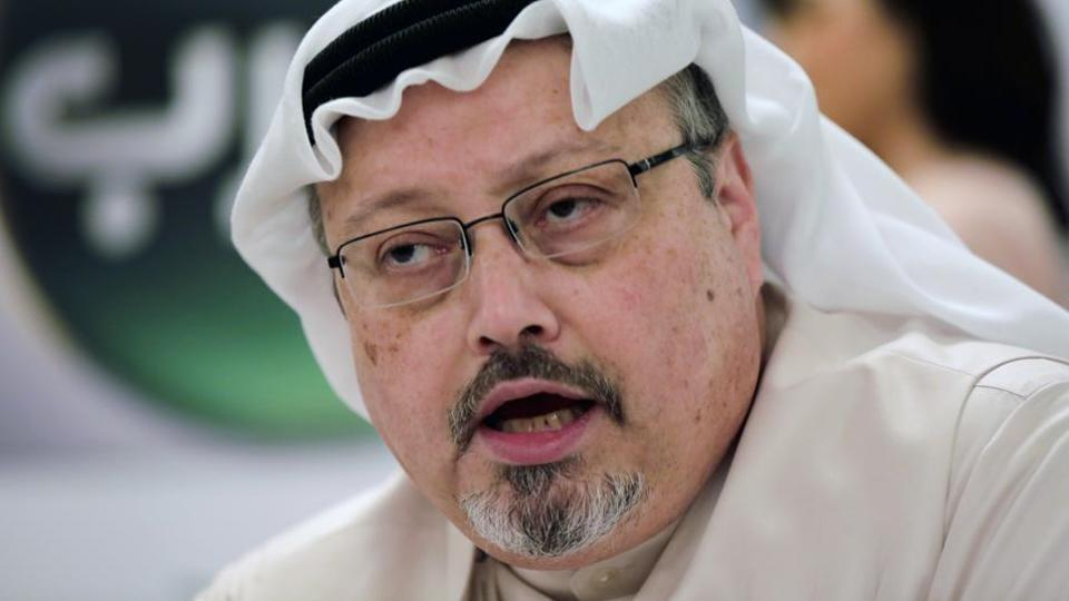 "The campaign consisted of ""repeatedly posting photos of Jamal Khashoggi.... throughout the crown prince's visit"", the watchdog said."