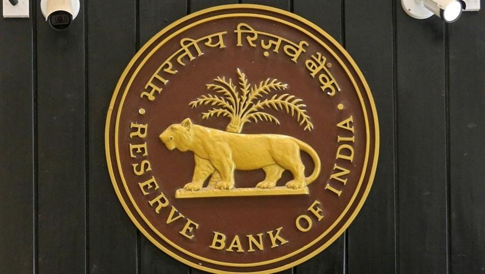 The logo of Reserve Bank of India (RBI) inside its headquarters in Mumbai.